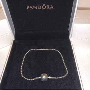 Pandora retired essence beaded chain bracelet 7.5